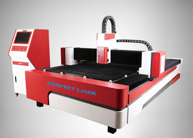 Cina 500W Presisi Tinggi CNC Sheet Metal Steel Iron Fiber Optic Laser Cutter Machine pabrik